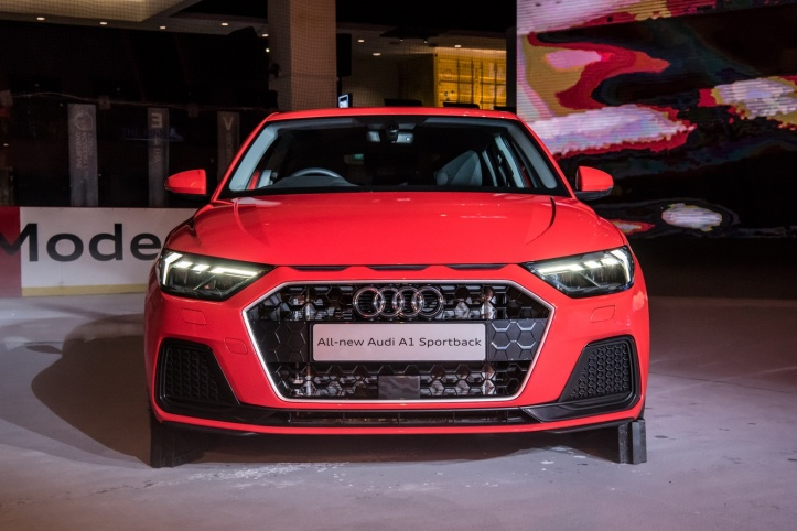 The all-new Audi A1 Sportback in Misano Red