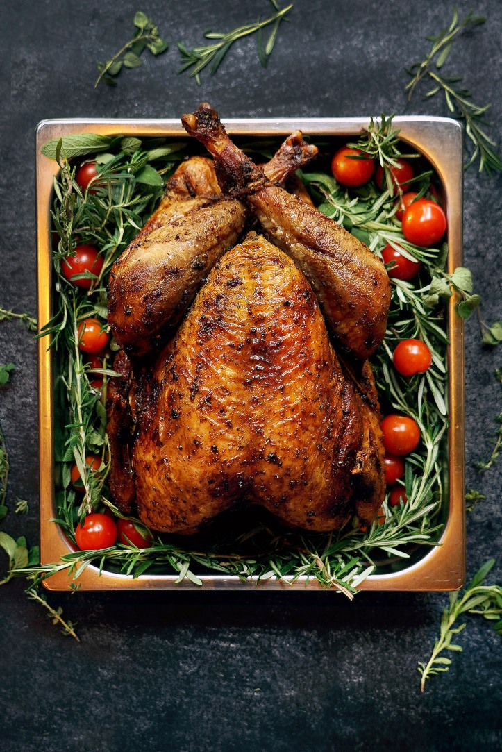 Whole Roasted Turkey with Fresh Herbs