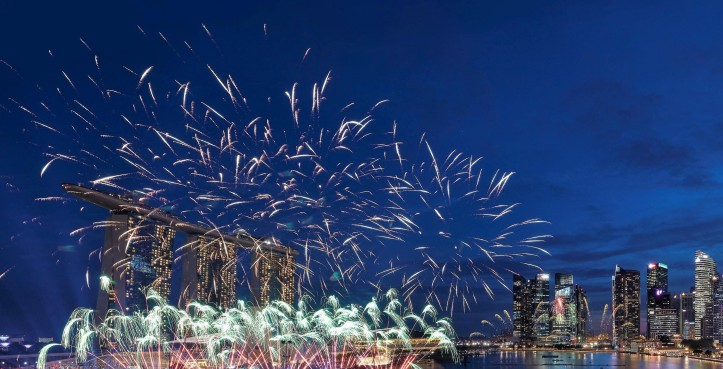 Mandarin Oriental, Singapore - View of Firework Displays