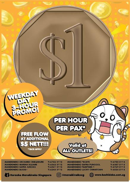 Manekineko $1 Flyer