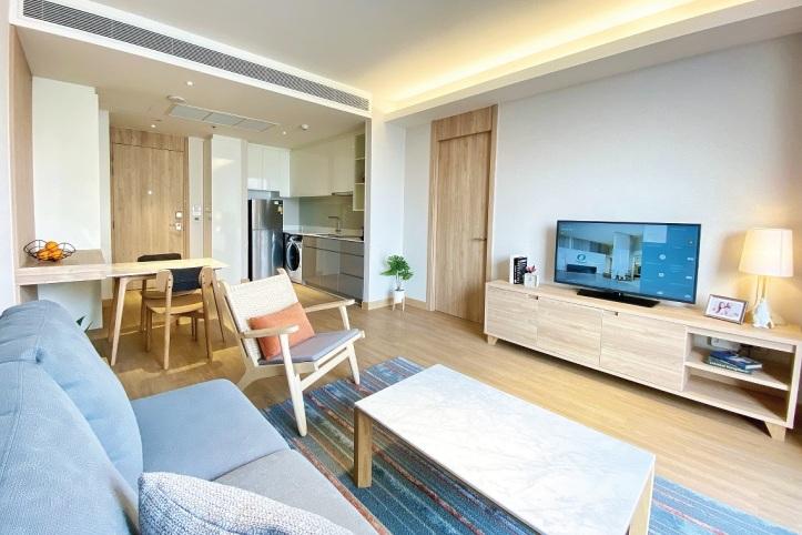Oakwood Suites Bangkok_One-Bedroom Executive Apartment Living Room