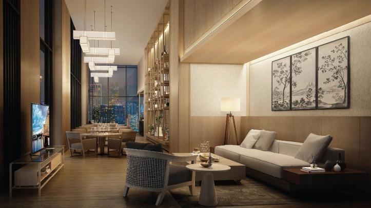 Oakwood Suites Bangkok_Sky Lounge Rendering