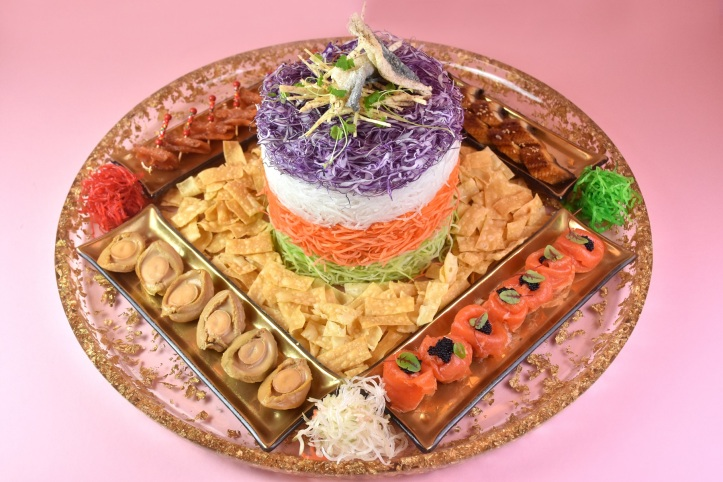 Signature Fortune Salmon Yu Sheng with Additional Toppings