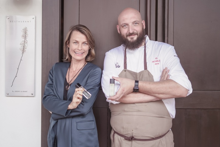 Founder and CEO of Maison 21G, Ms. Johanna Monange with MICHELIN Star Restaurant JAG Chef Jeremy Gillon