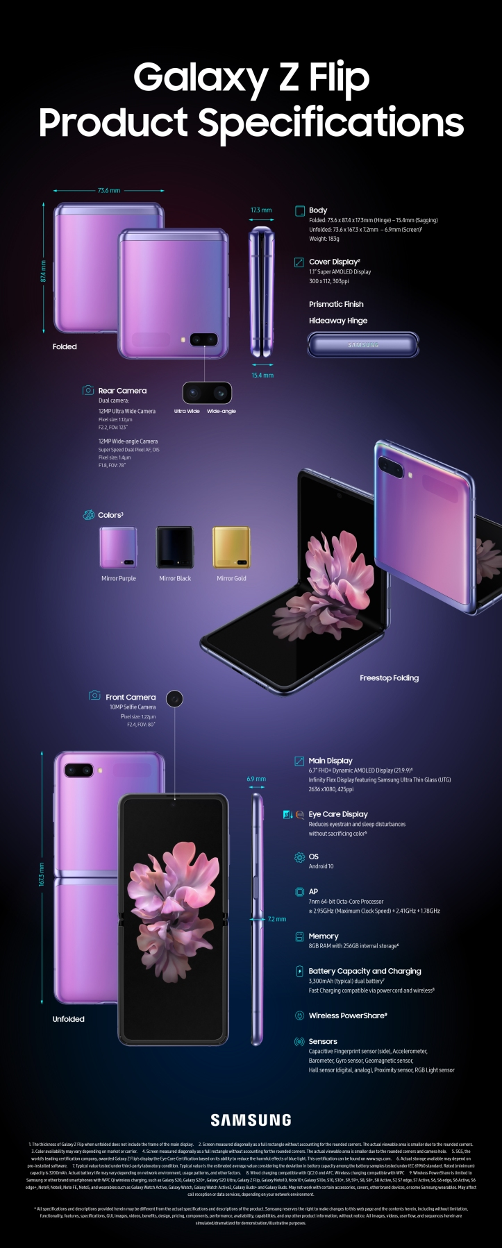 Infographic_Galaxy-Z-Flip-Product-Specifications