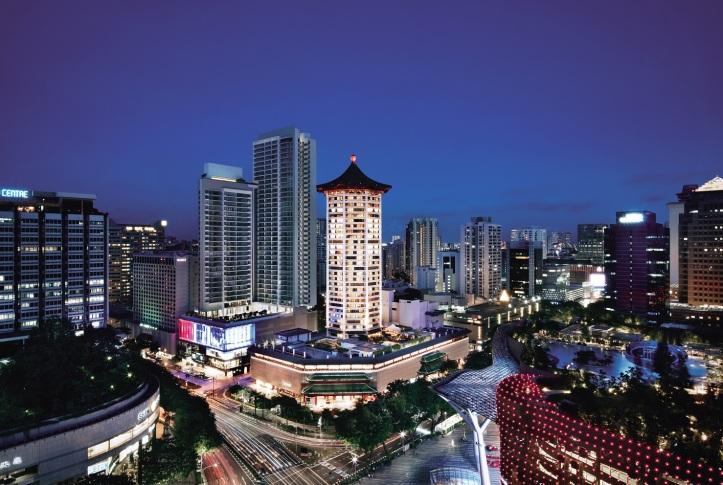Singapore Marriott Tang Plaza Hotel - Facade