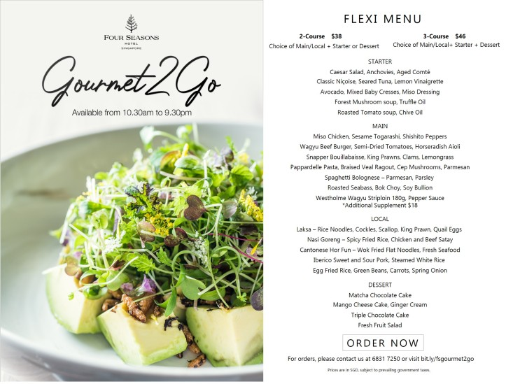 Gourmet To Go_Flexi Meal_Four Seasons Hotel Singapore