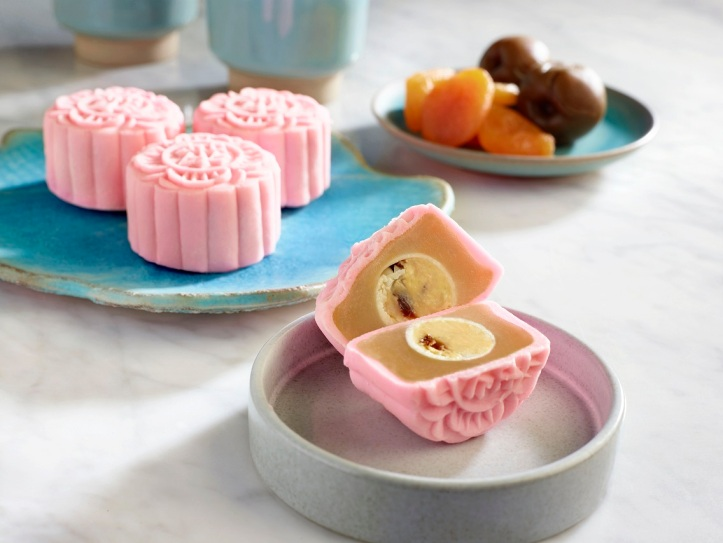 Apricot and Sourplum Snow-skin Mooncake (1)