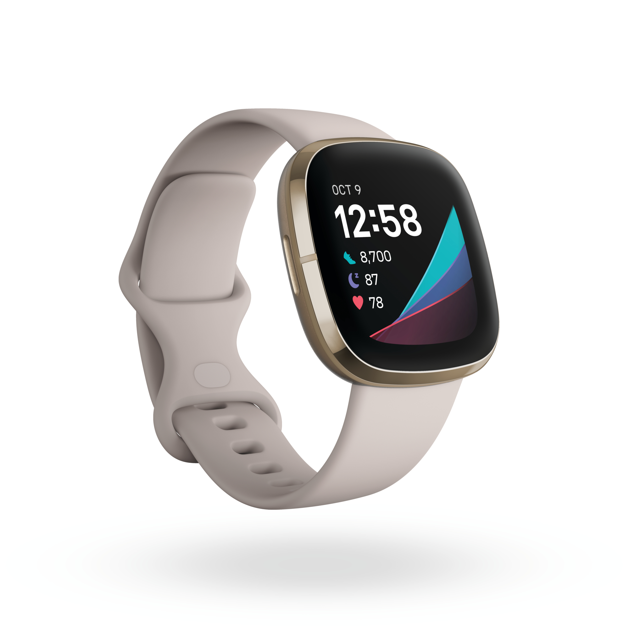 Fitbit_Sense_Render_3QTR_Core_Lunar_White_Soft_Gold_Clock_Default_Shadow