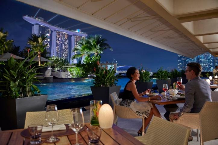 Dining at Mandarin Oriental, Singapore