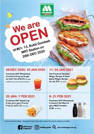 MOS Burger Bukit Gombak Promotions