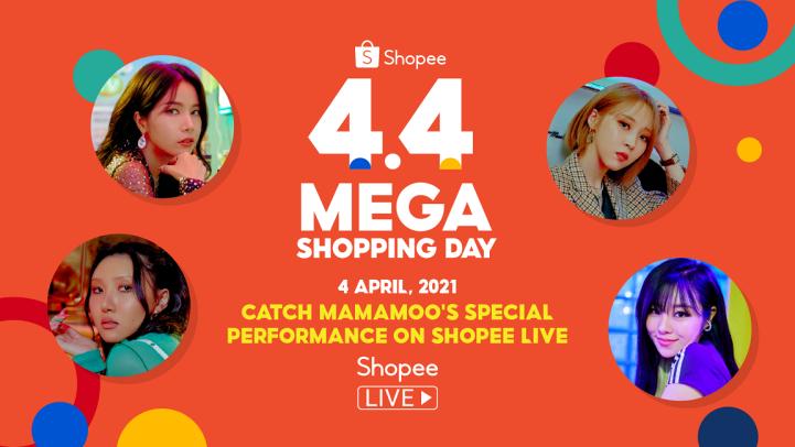 Shopee 4.4 Mega Shopping Day - Mamamoo Performance on Shopee Live