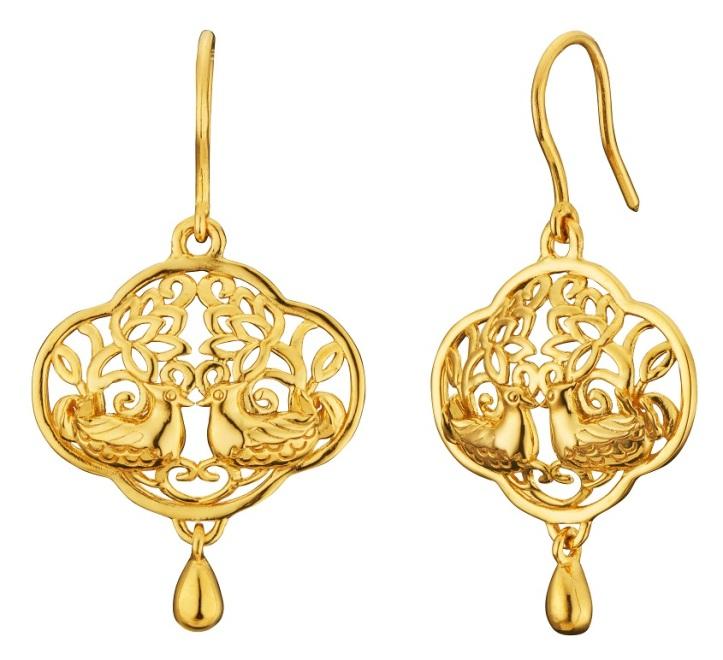 Mandarin Ducks (鸳鸯) Drop Earrings